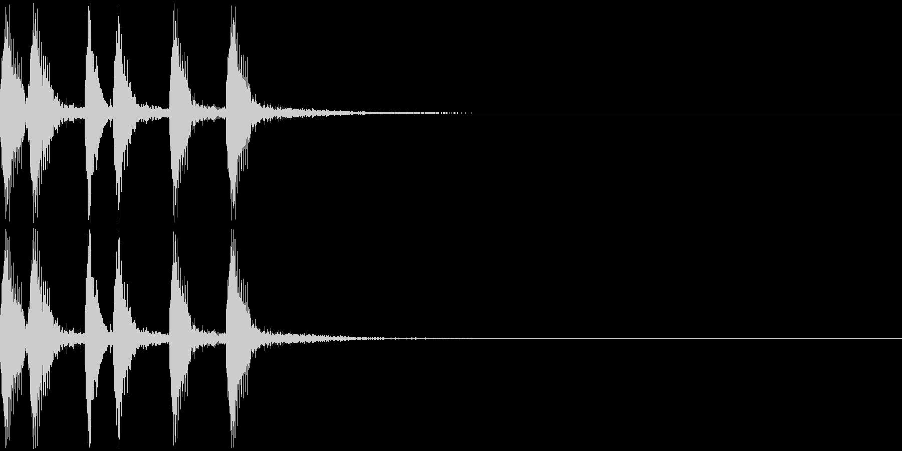 シンプルなジングルその2の未再生の波形