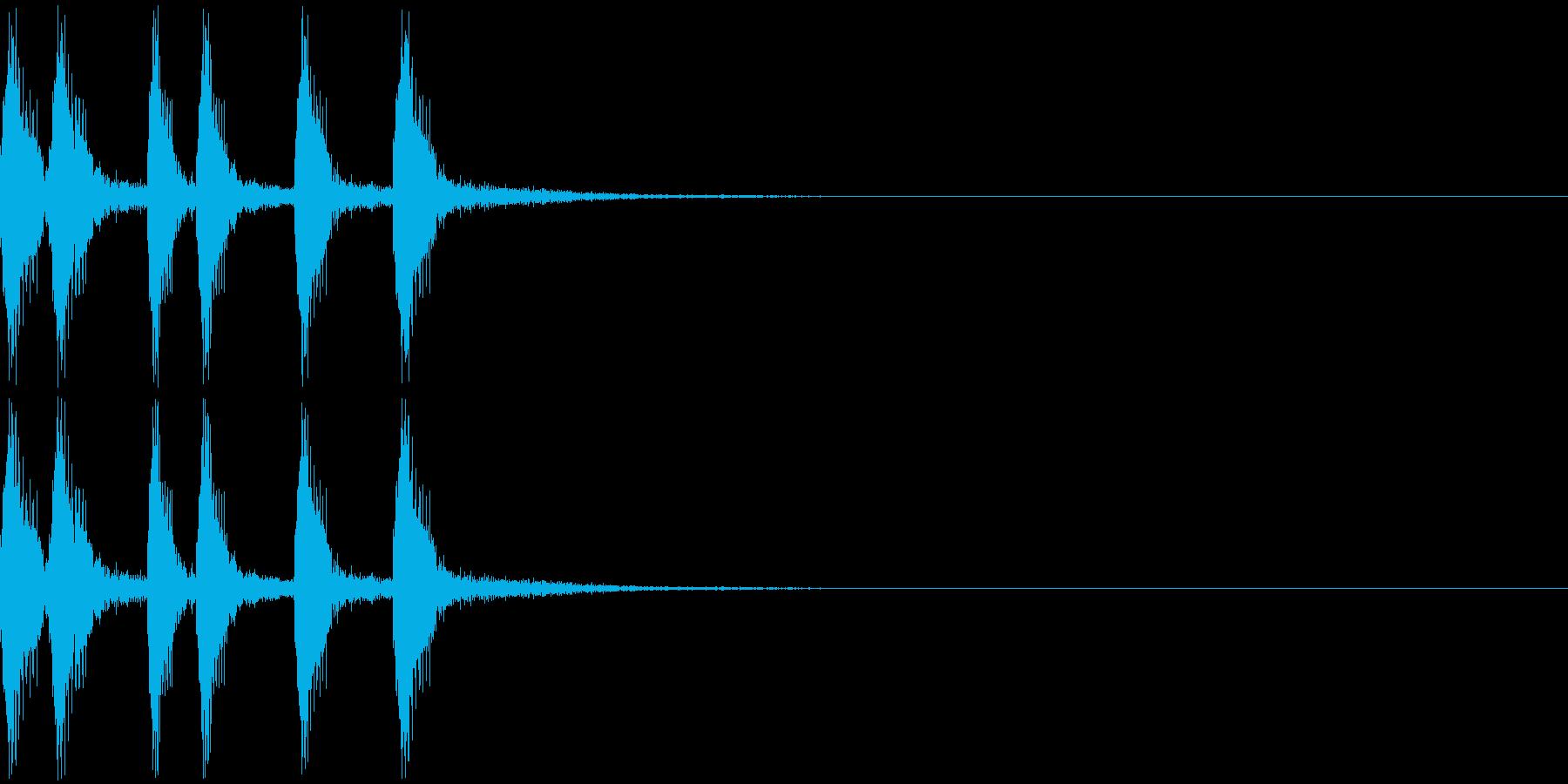 シンプルなジングルその2の再生済みの波形