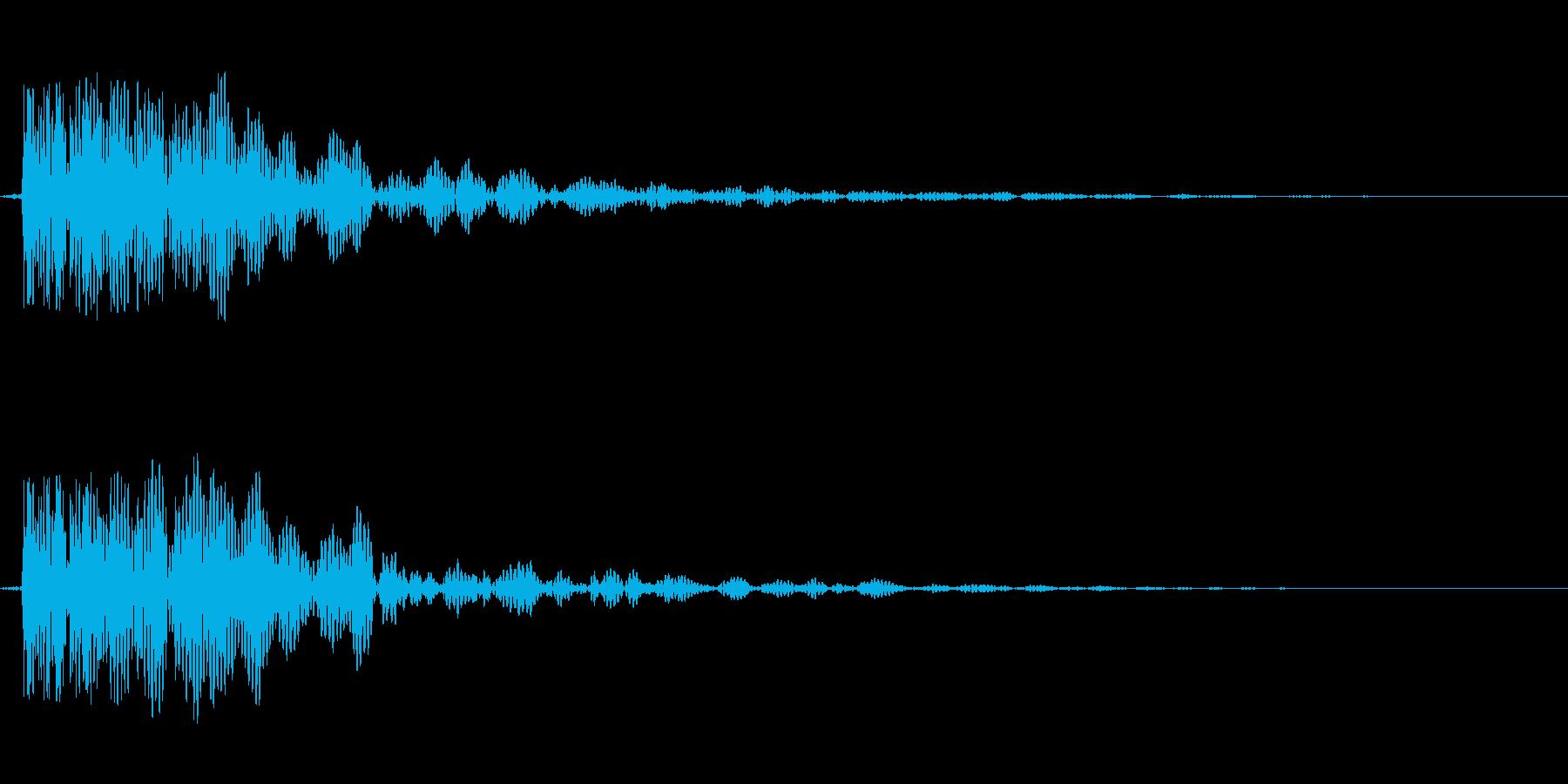 和太鼓でドンの再生済みの波形