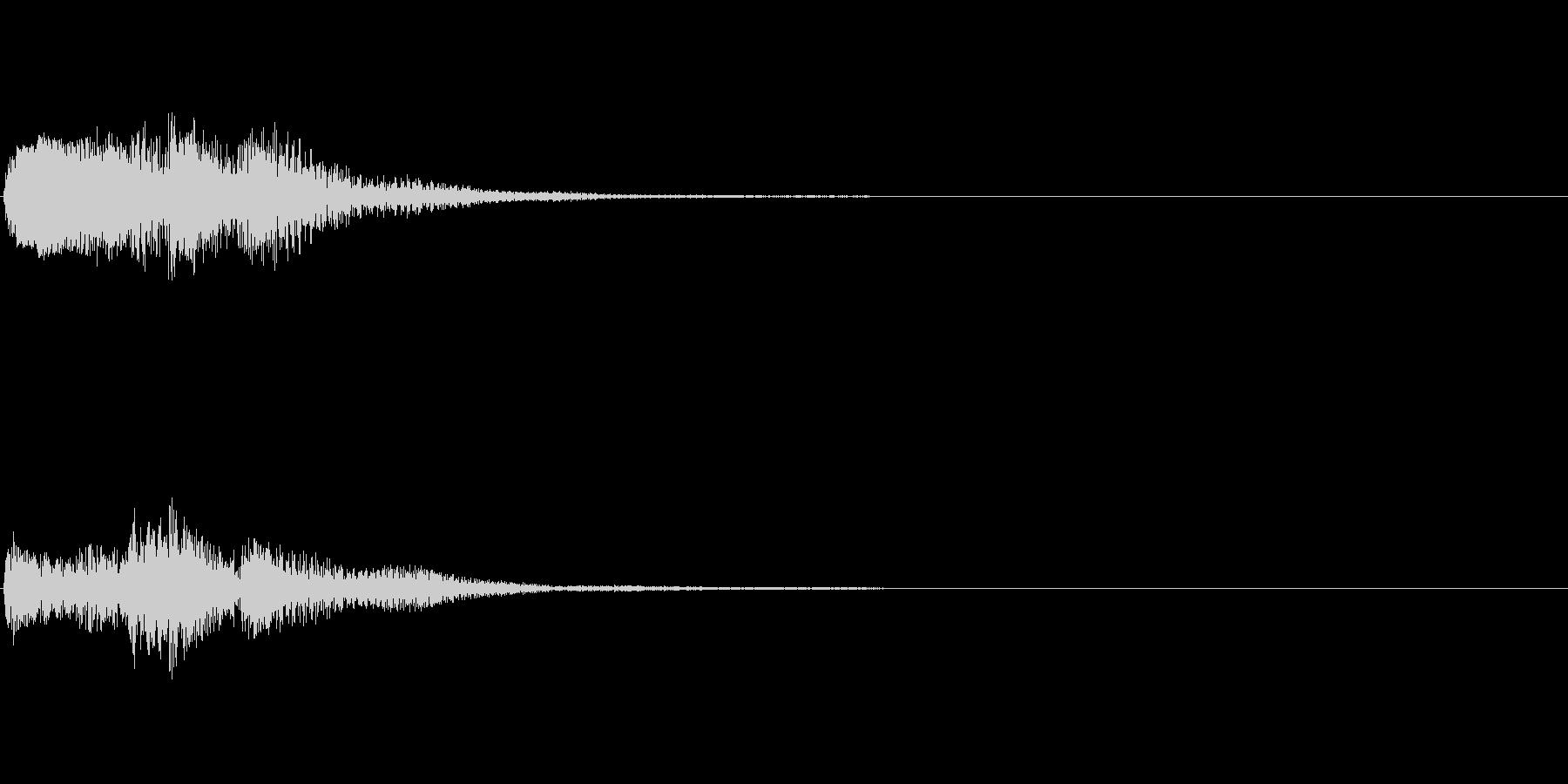 ピアノ SE01の未再生の波形