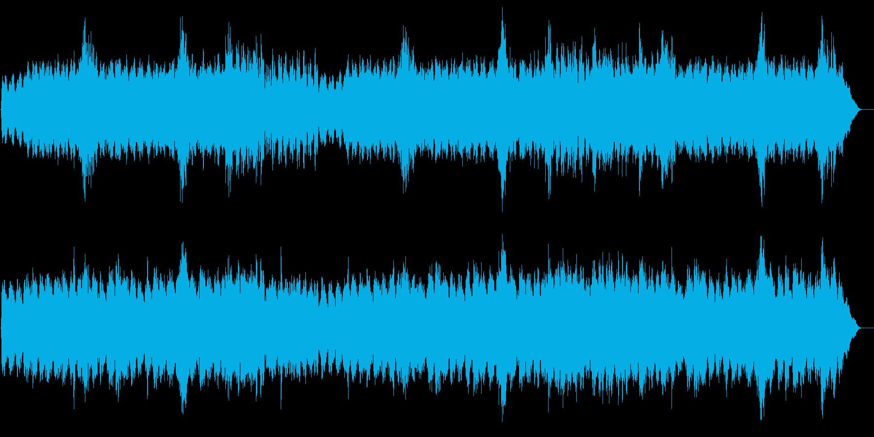 ドキュメンタリー系 大気圏宇宙風サウンドの再生済みの波形