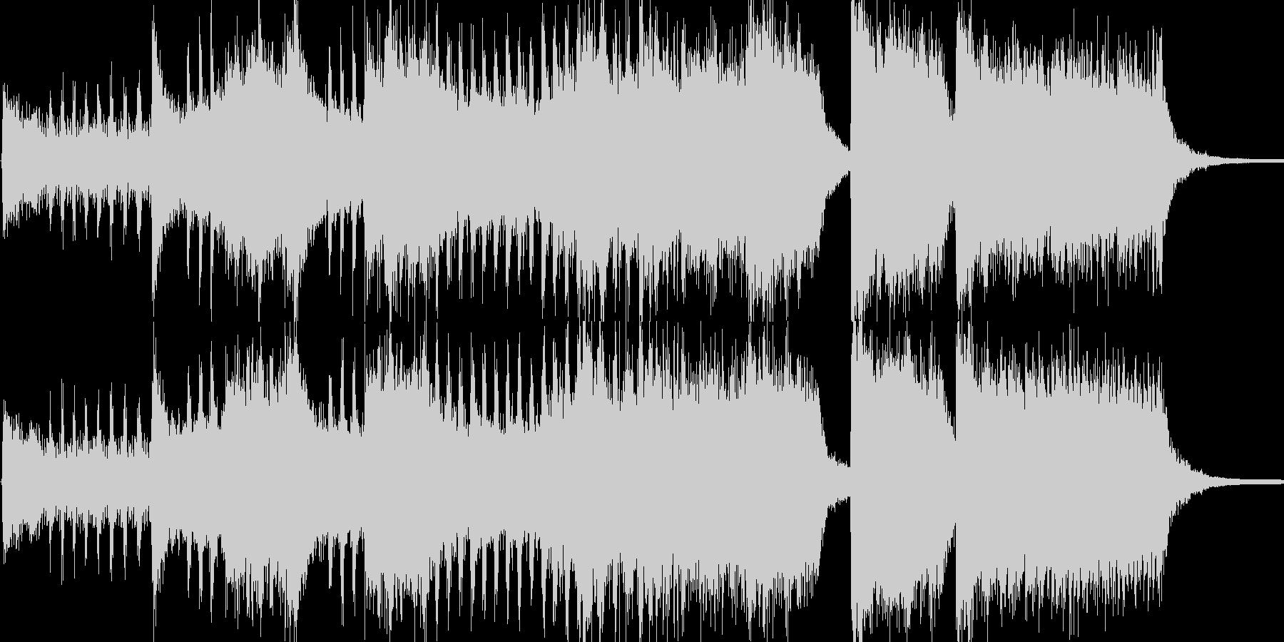 開会式を想定した明るいファンファーレで…の未再生の波形