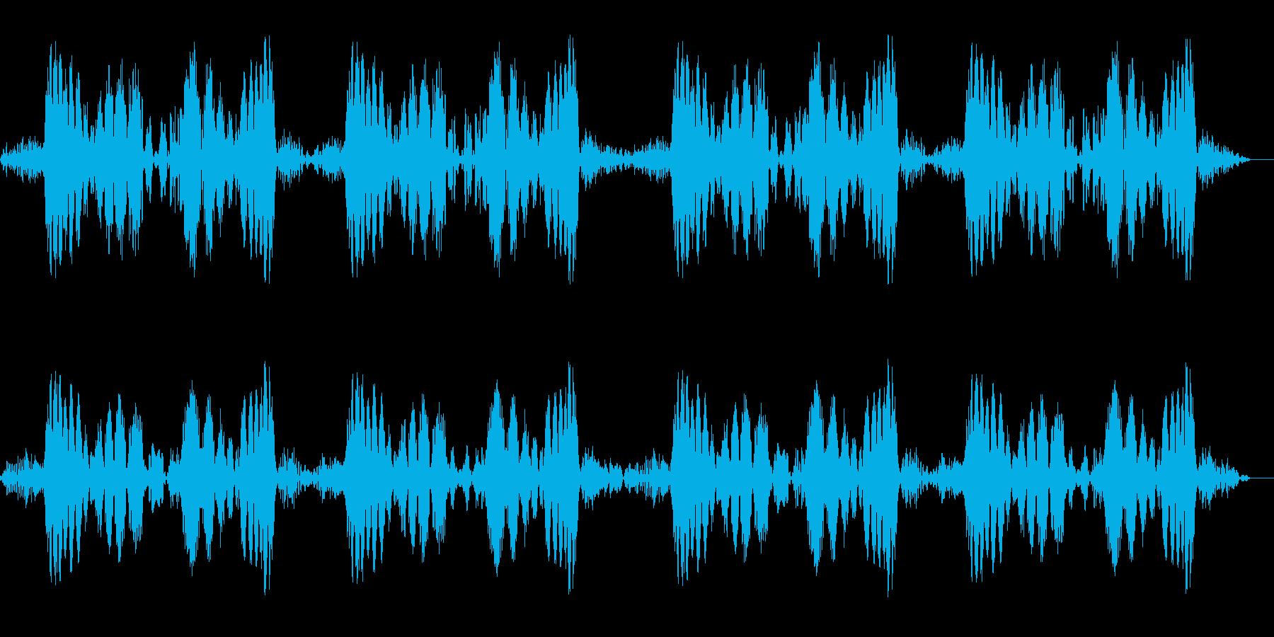 キュパ×4回(レコードスクラッチの音)の再生済みの波形