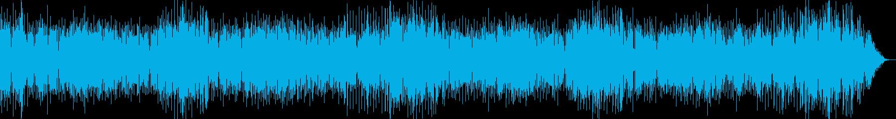 疾走感のある明るい軽快なテクノポップの再生済みの波形