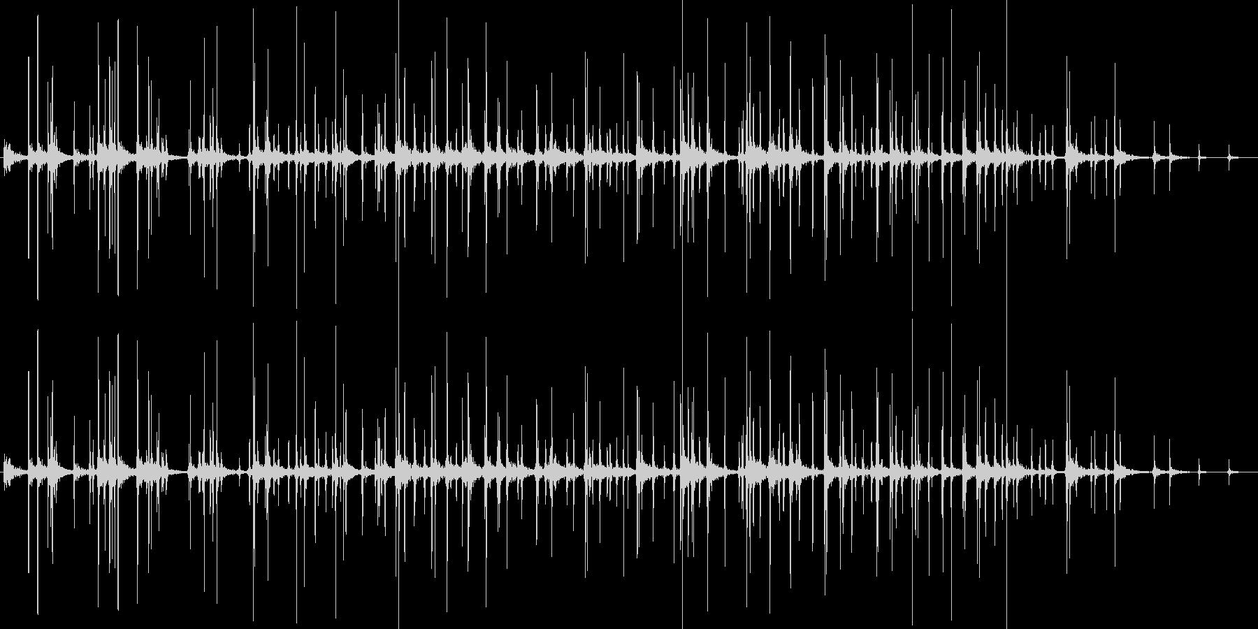 拍手(生音)の未再生の波形