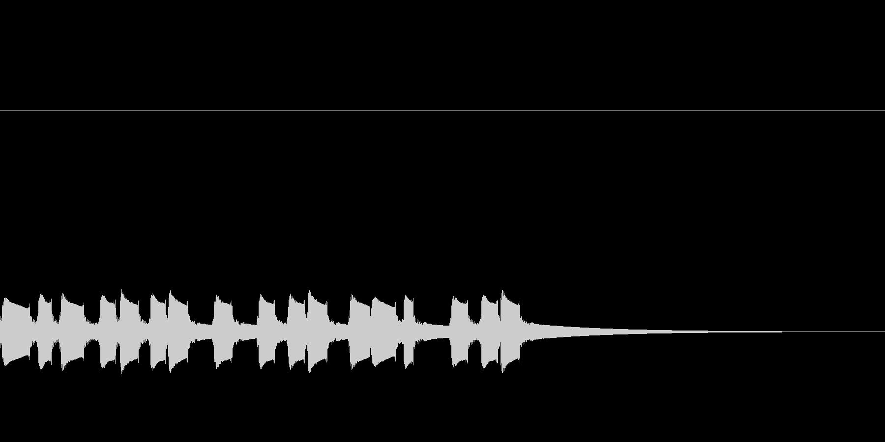 ピンポン:右側でインターホン連打の未再生の波形