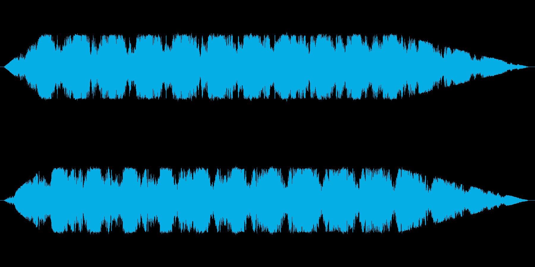 宇宙をイメージしたアンビエントの再生済みの波形