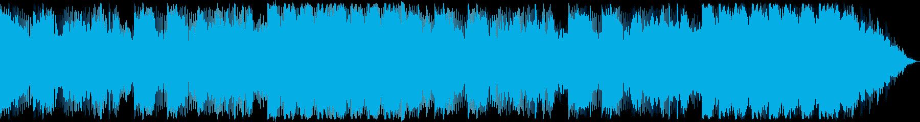 癒し系の神秘的なシンセサウンドの再生済みの波形