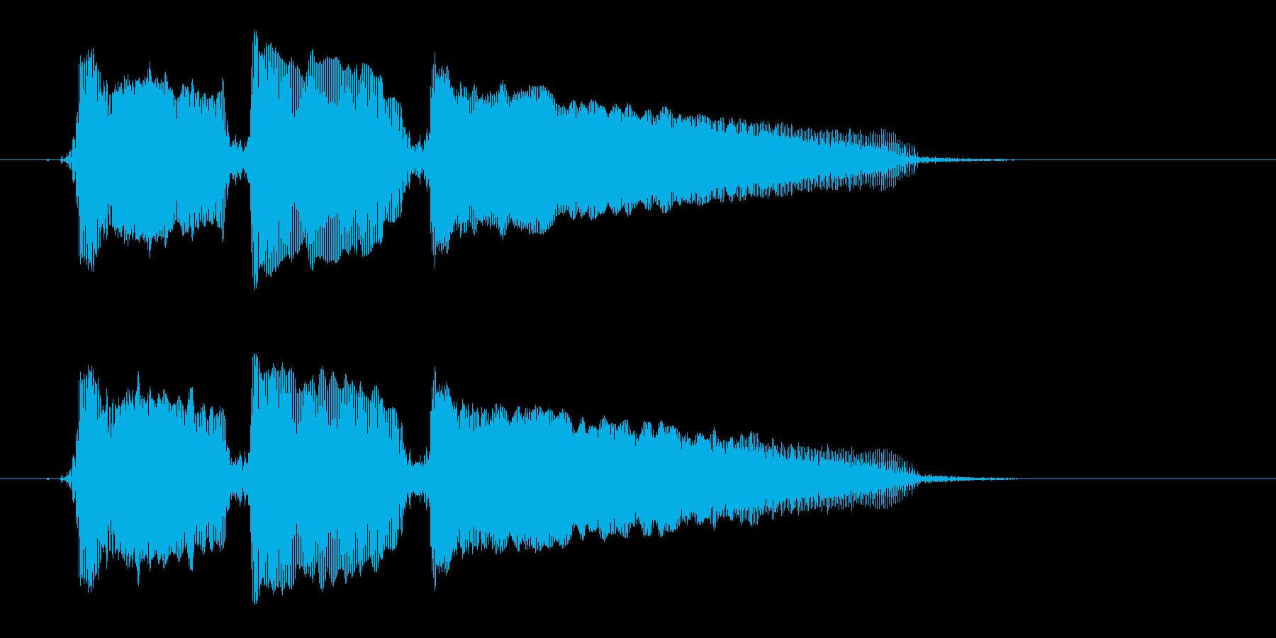 「ホゥホゥホゥ」の再生済みの波形