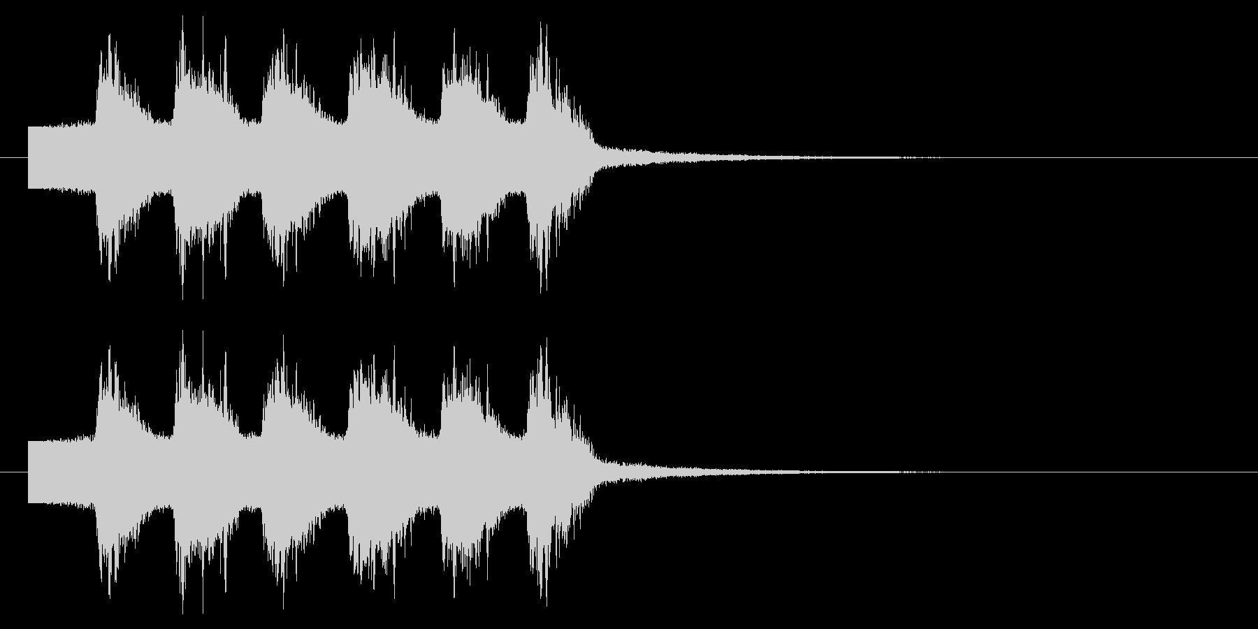 光線 ビーム インパクト音の未再生の波形