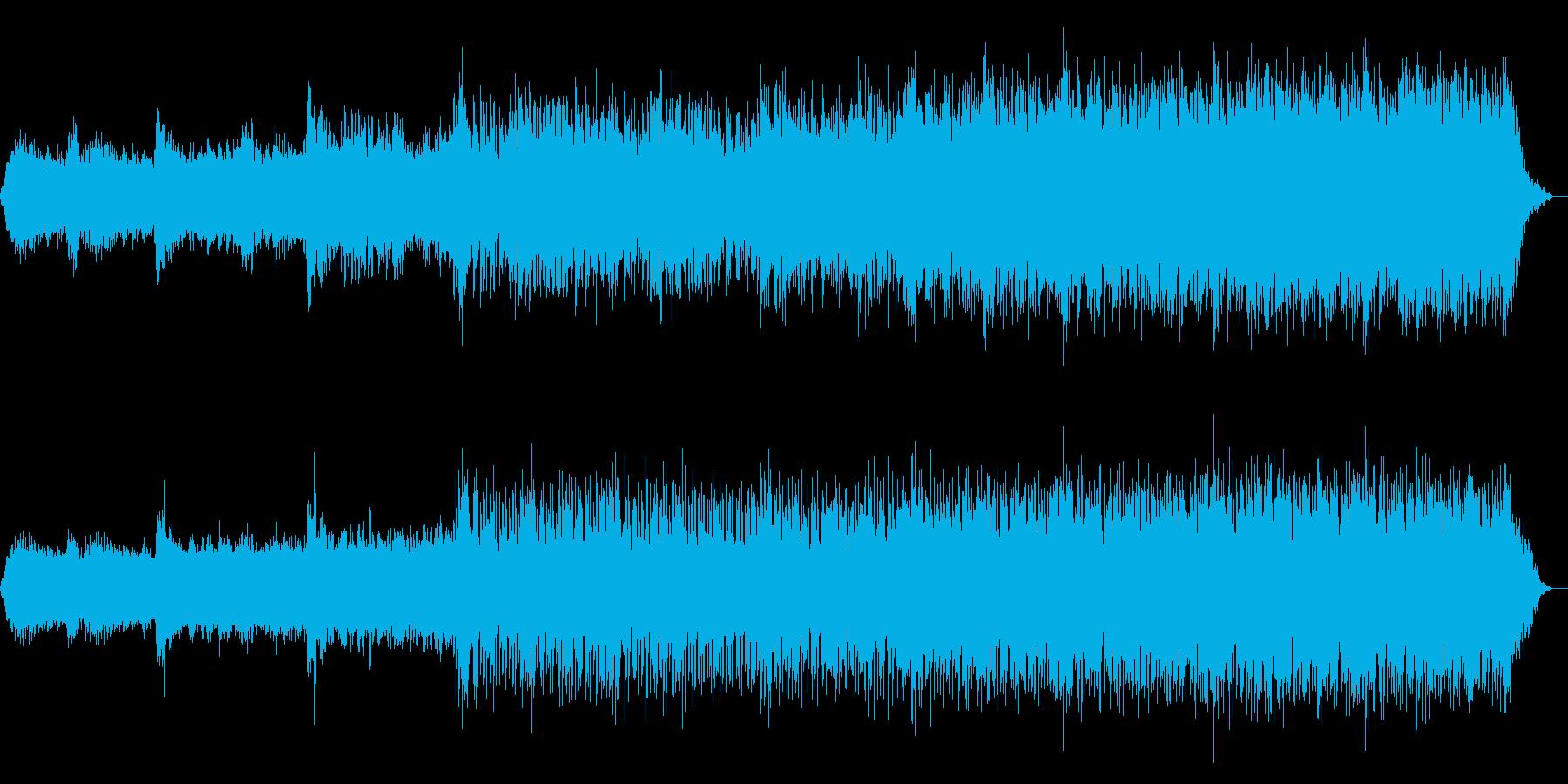 4分BGM ホラー恐怖場面 ピアノや雷の再生済みの波形
