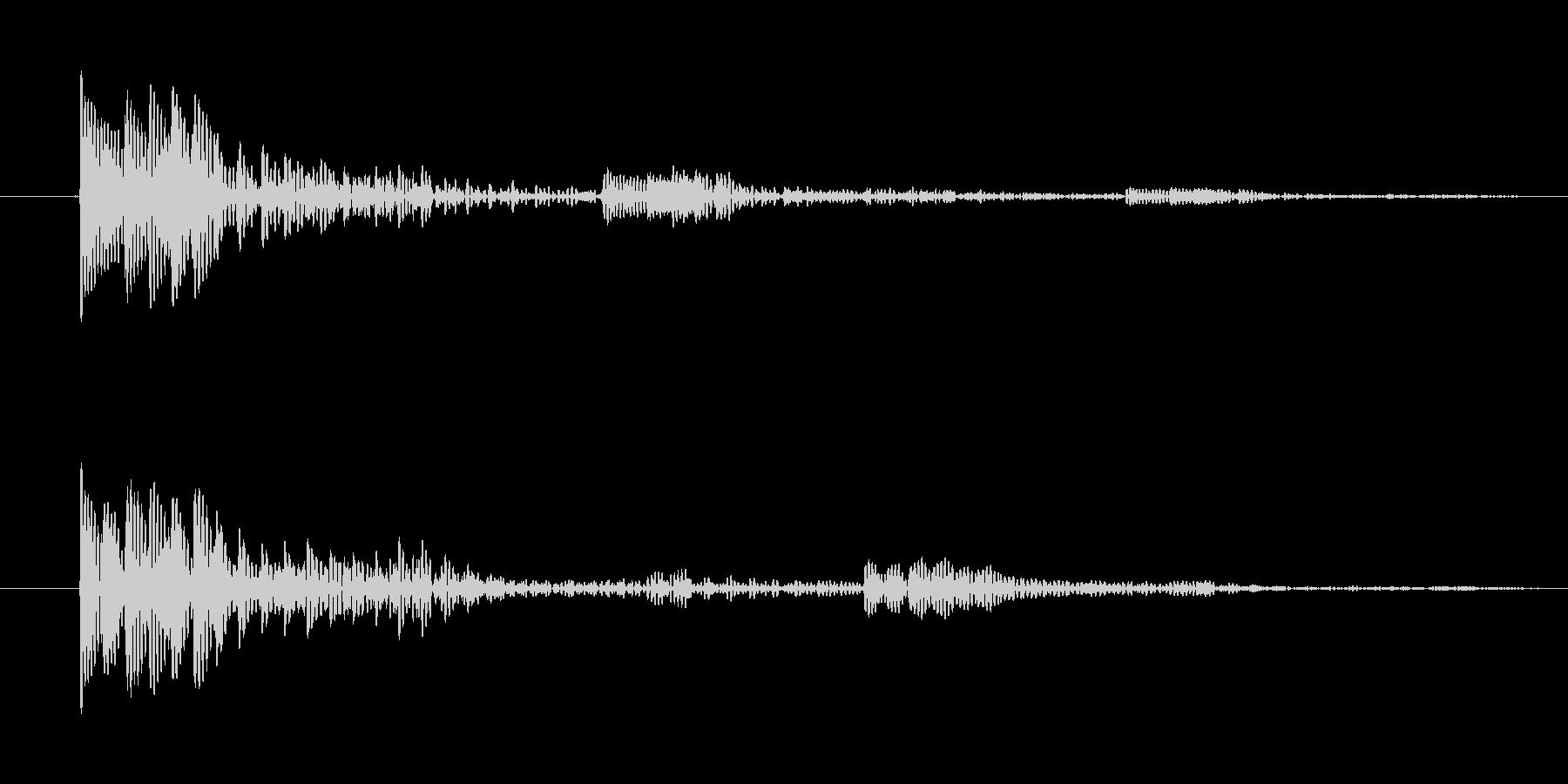 動作キャンセル向け電子音(ヒューン)の未再生の波形