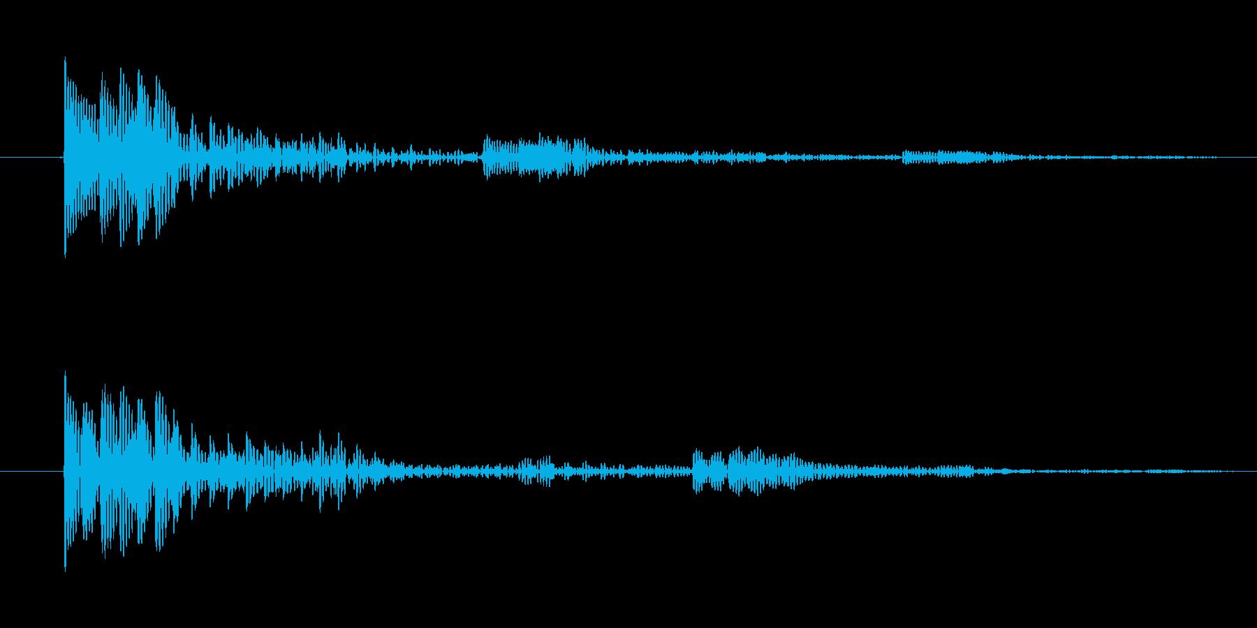 動作キャンセル向け電子音(ヒューン)の再生済みの波形