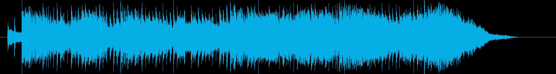 オリエンタルなテクノポップの再生済みの波形