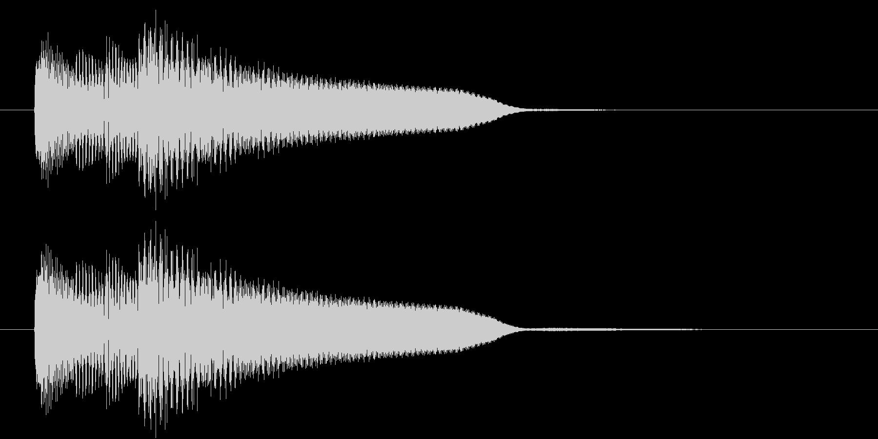 レベルアップ音のようなジングルの未再生の波形