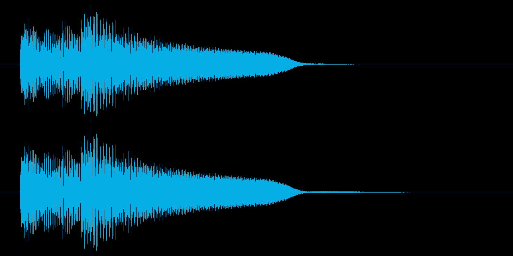 レベルアップ音のようなジングルの再生済みの波形