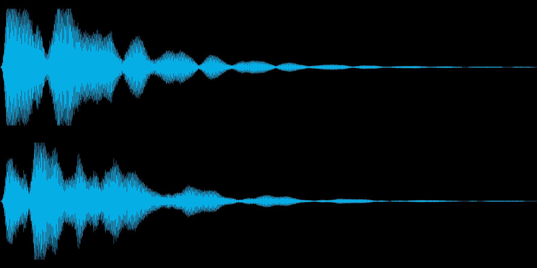 【ホラー】暗く不気味な音の再生済みの波形