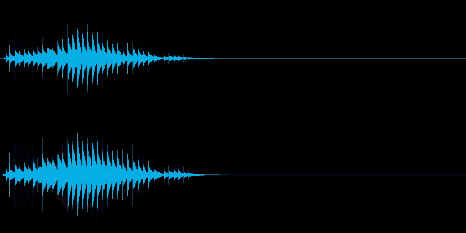 おばけ ちりちりちり(上がって下がる)の再生済みの波形