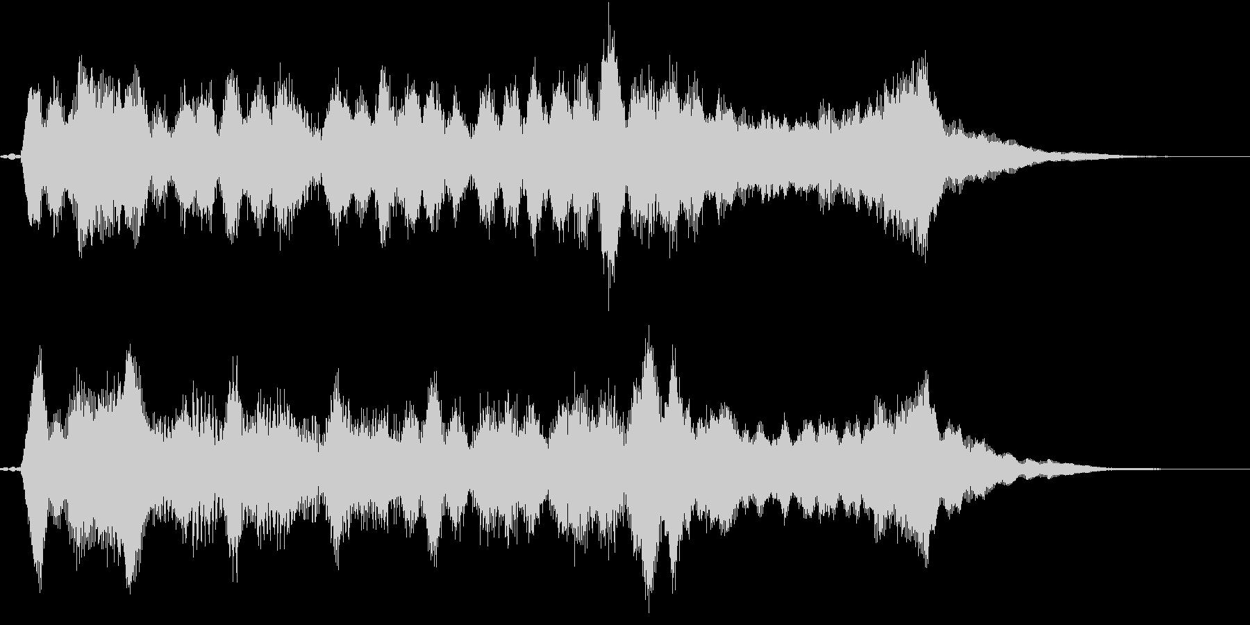 生演奏:美しく折り重なる弦楽四重奏の未再生の波形