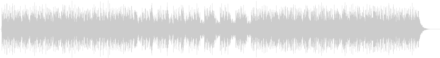 涼しげでおしゃれなシンセサイザーサウンドの未再生の波形