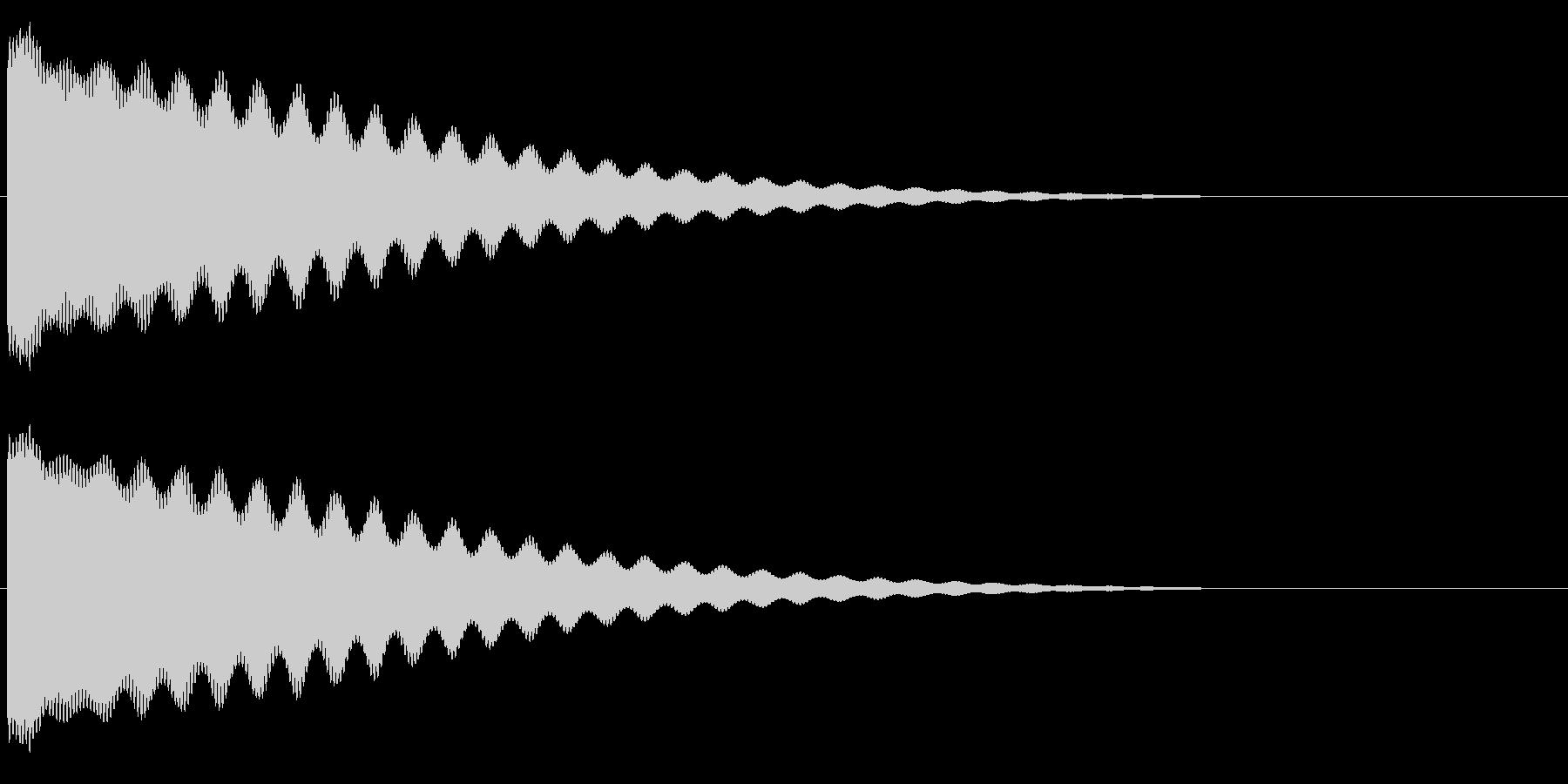 チーン/お鈴/仏壇/仏具/低いの未再生の波形