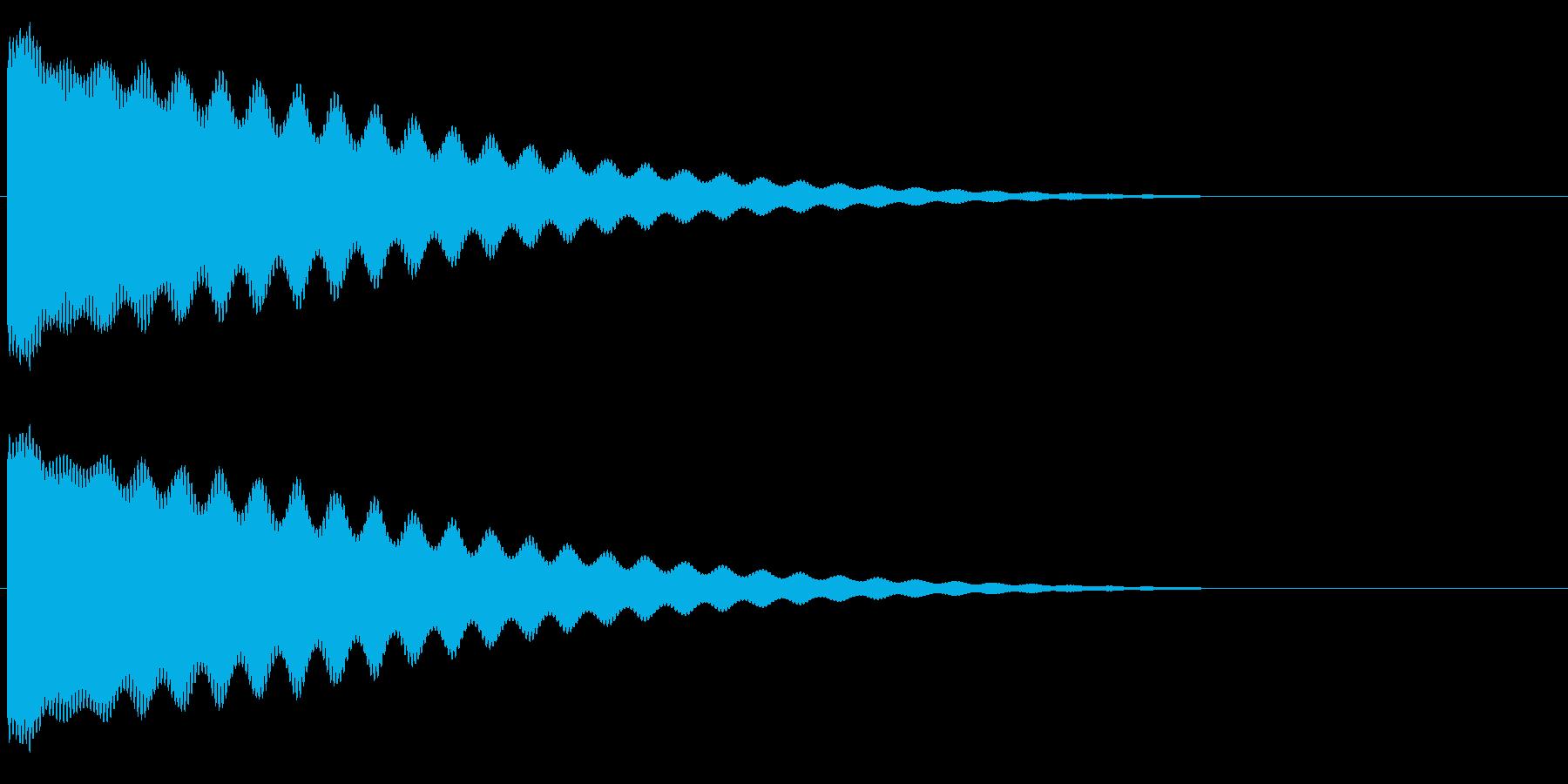 チーン/お鈴/仏壇/仏具/低いの再生済みの波形