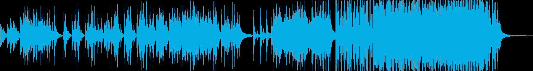 旋律の綺麗なピアノ曲の再生済みの波形