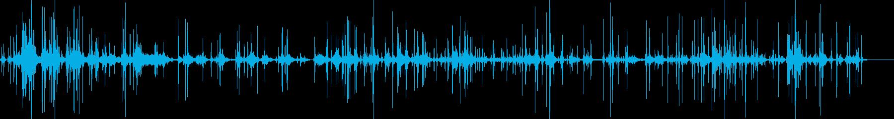 記者会見のシャッター音の再生済みの波形