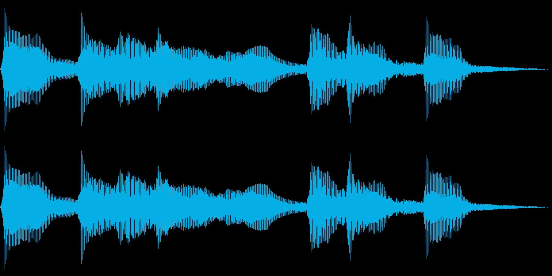 レトロでコミカルなゲームオーバー音 失敗の再生済みの波形