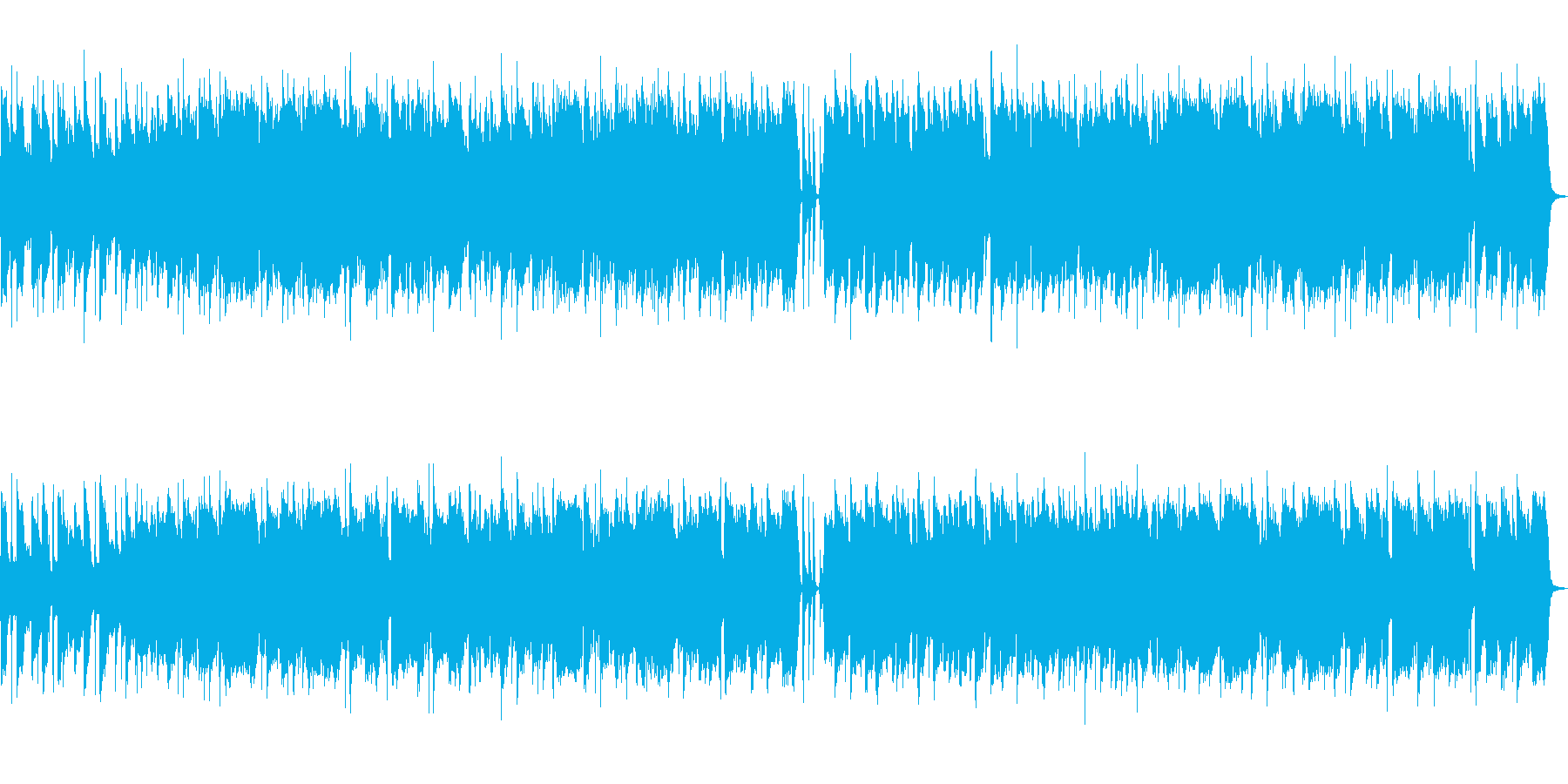 軽やかなボサノバっぽい和製ポップチューンの再生済みの波形