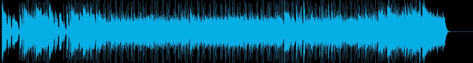 オープニング向けのわくわくポップスの再生済みの波形