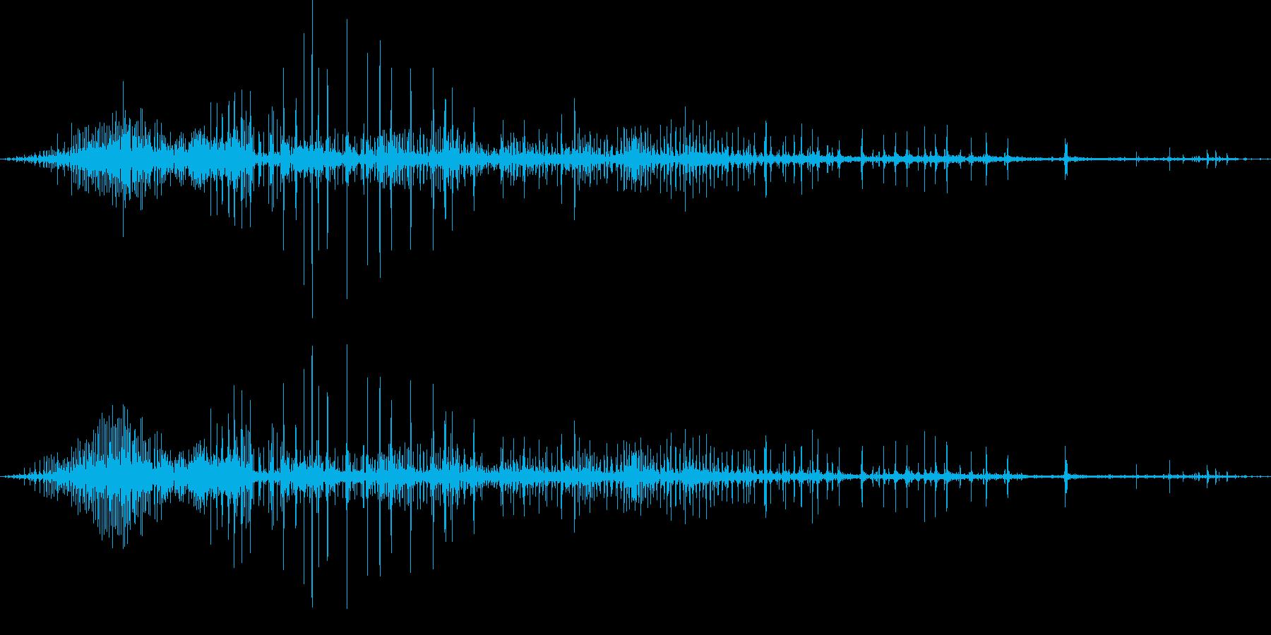ギリギリ締め付けるような音2(短め)の再生済みの波形