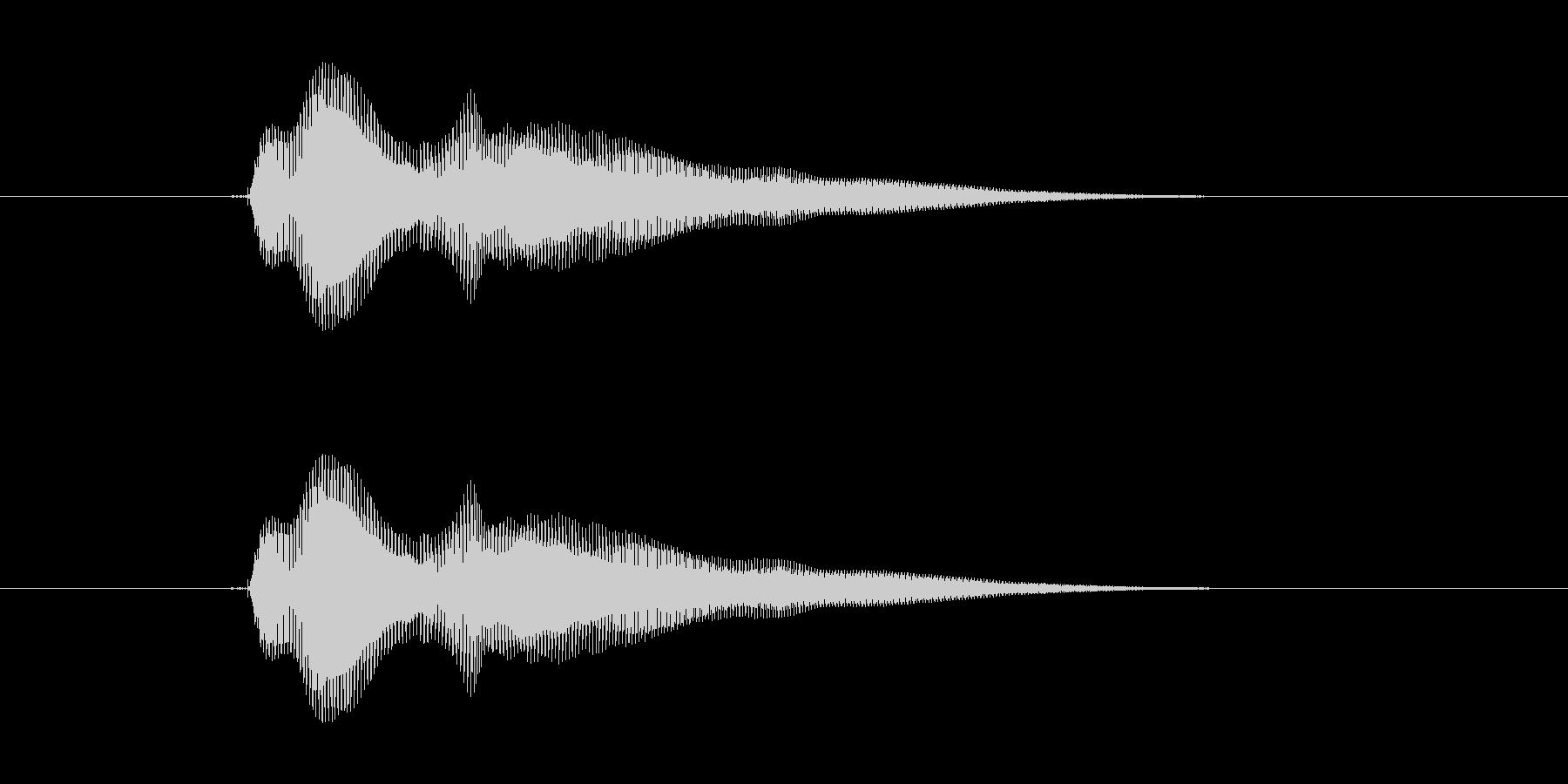 ポォインの未再生の波形