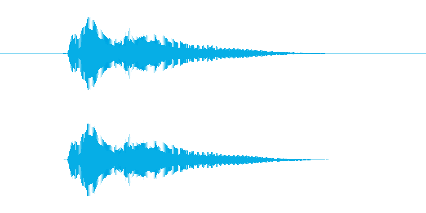 ポォインの再生済みの波形