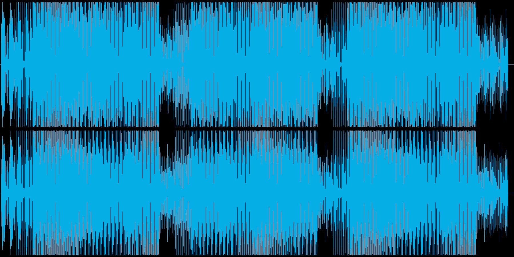 ファッショナブルなハウスミュージックの再生済みの波形