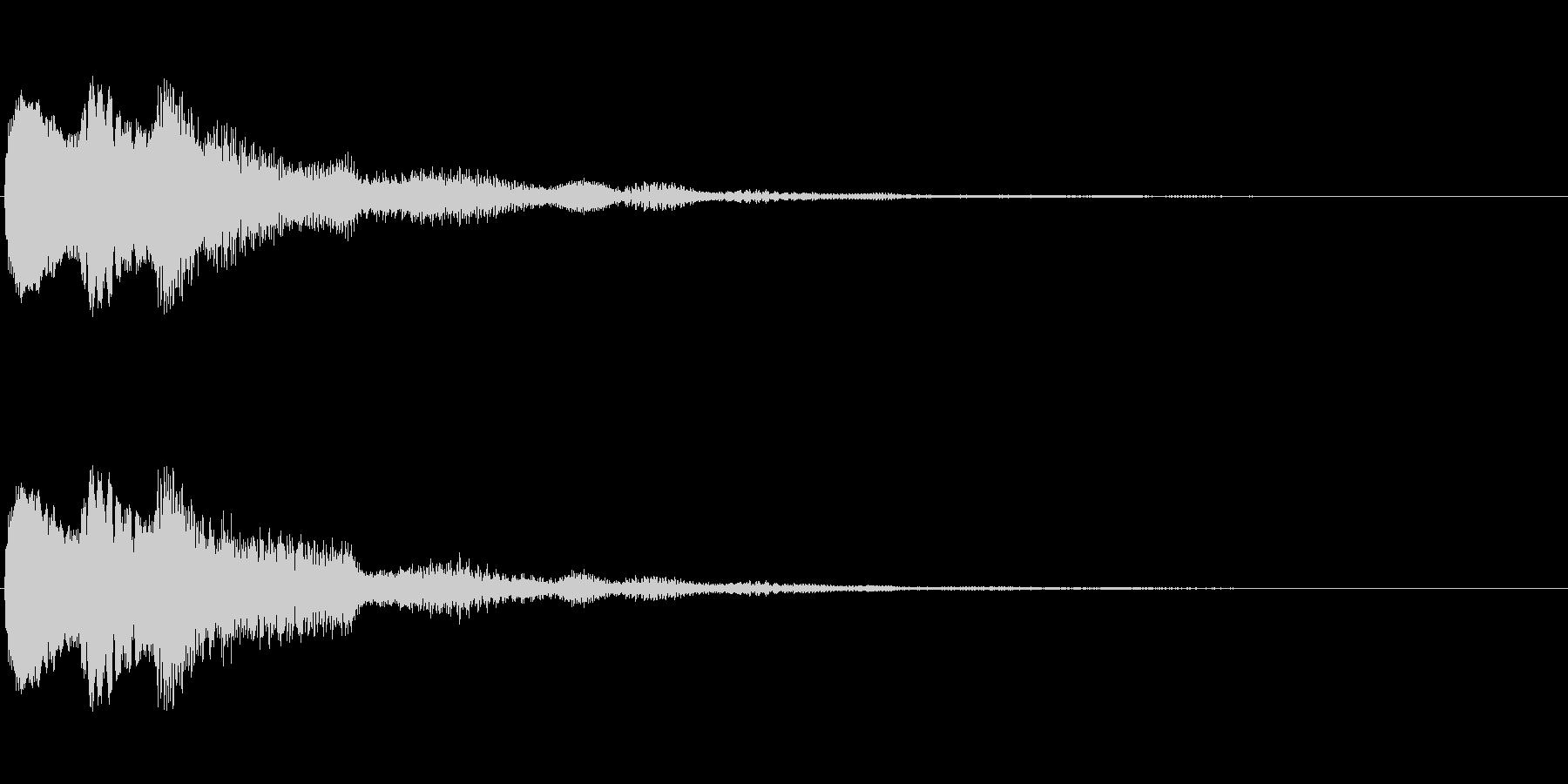 なにかの直感が働いたときの音の未再生の波形