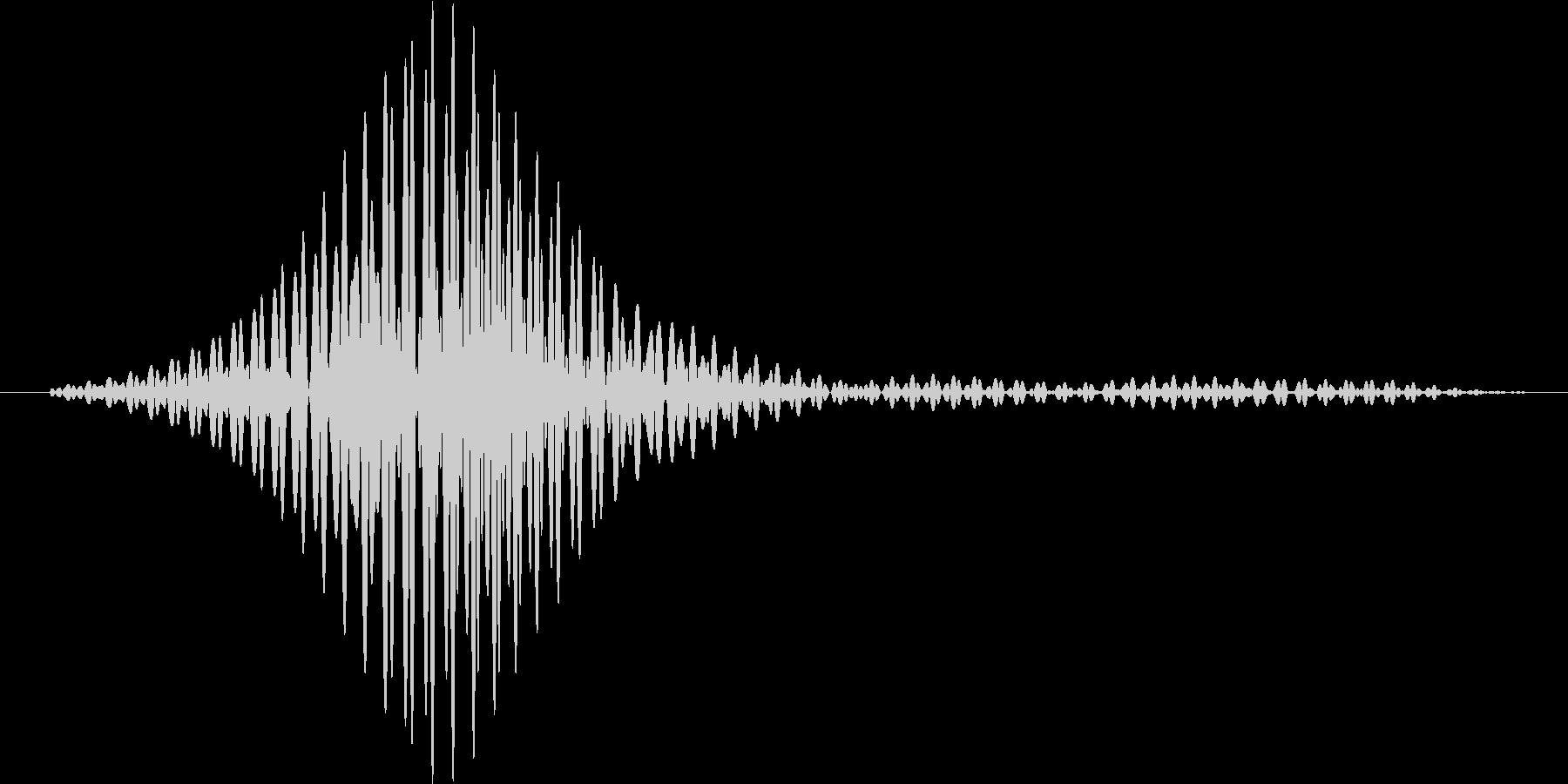 レーザーブレード風1の未再生の波形