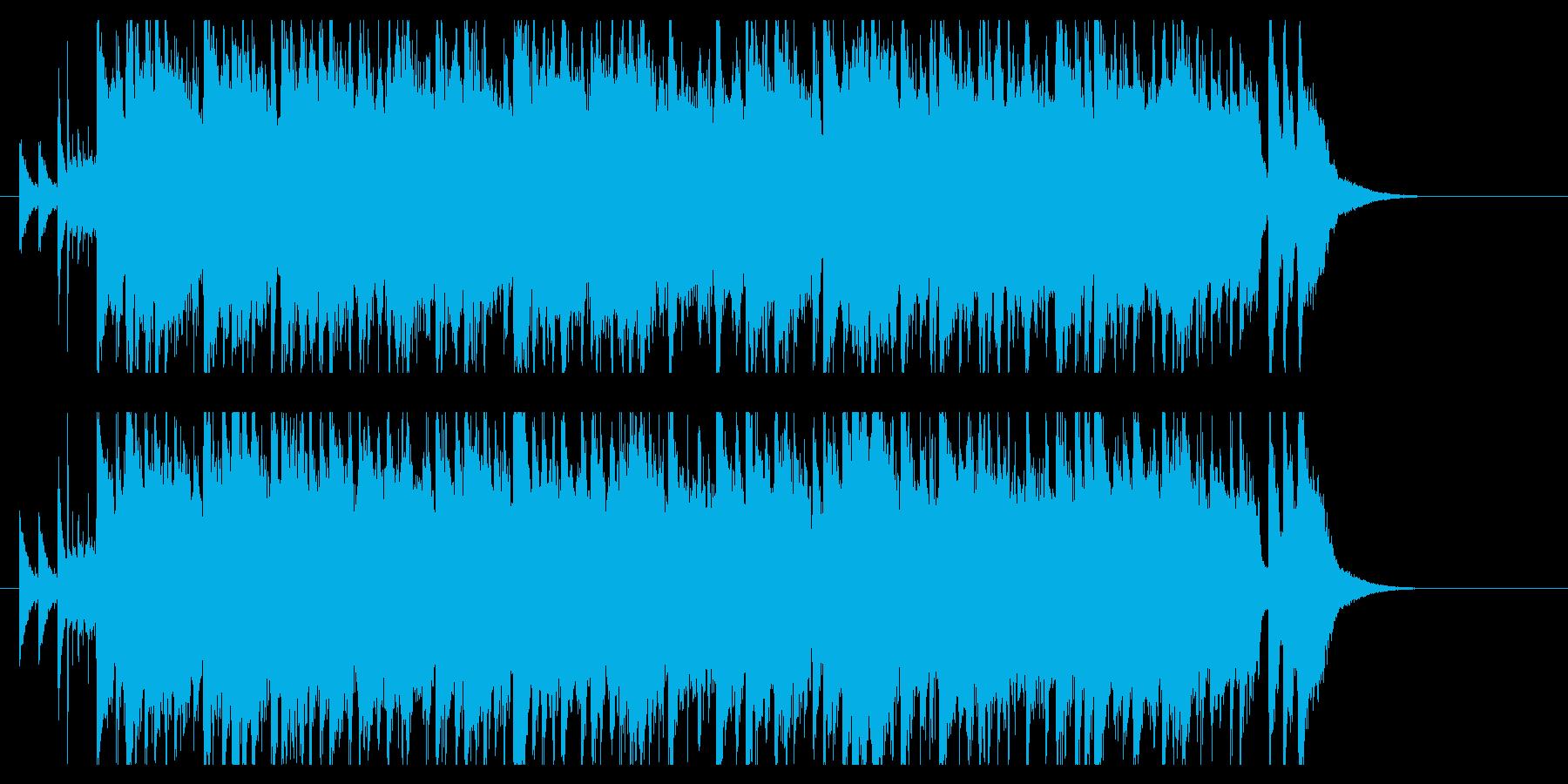 爽やかな夏のアップテンポBGMの再生済みの波形