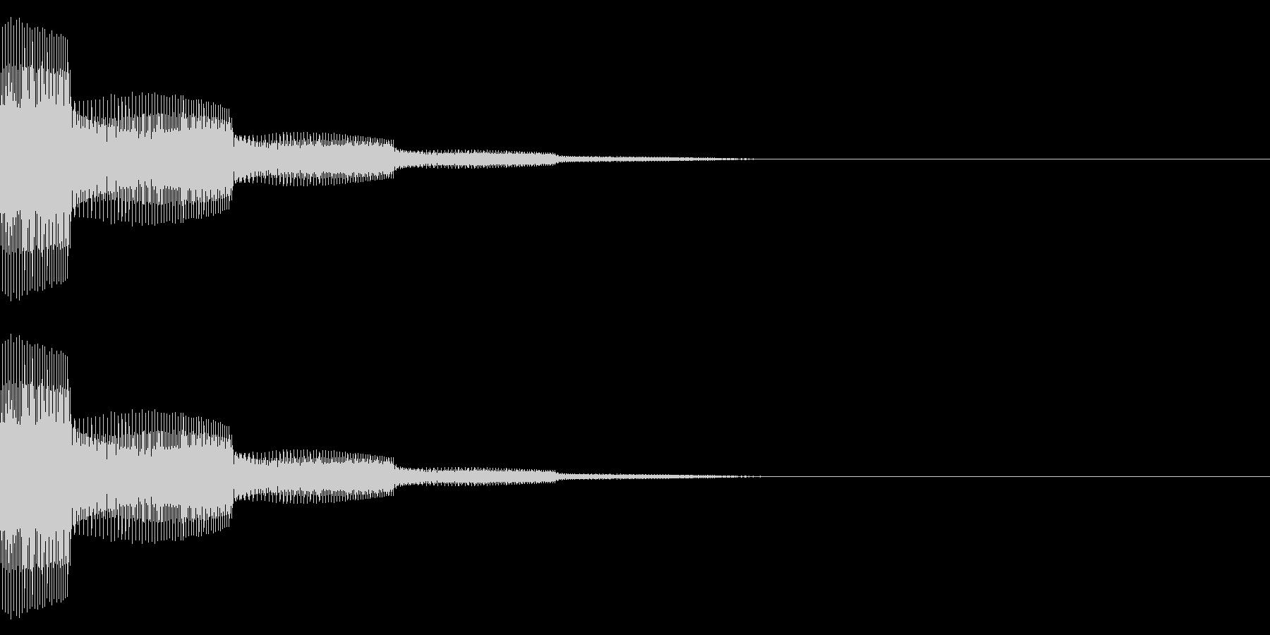 タッチ/シンプル/シンセ/キャンセル音の未再生の波形