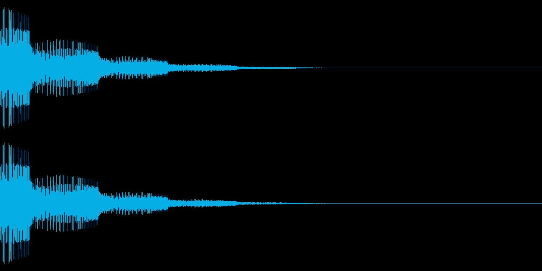 タッチ/シンプル/シンセ/キャンセル音の再生済みの波形