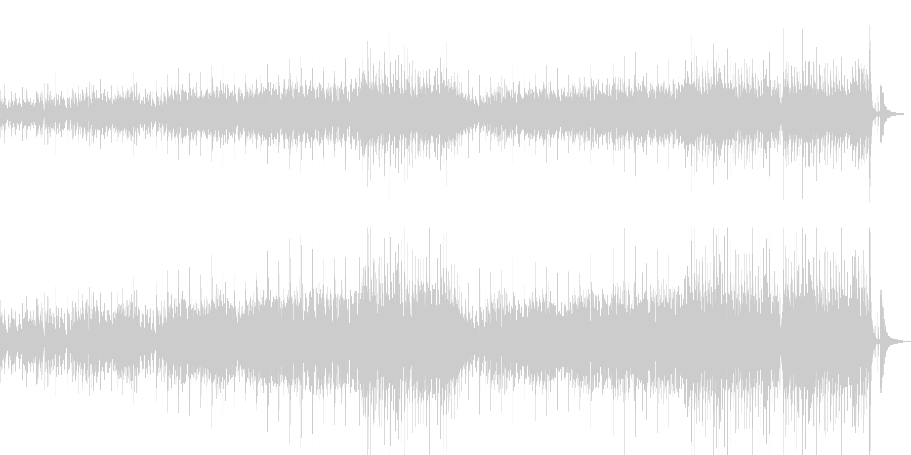 アトリエをイメージした曲の未再生の波形
