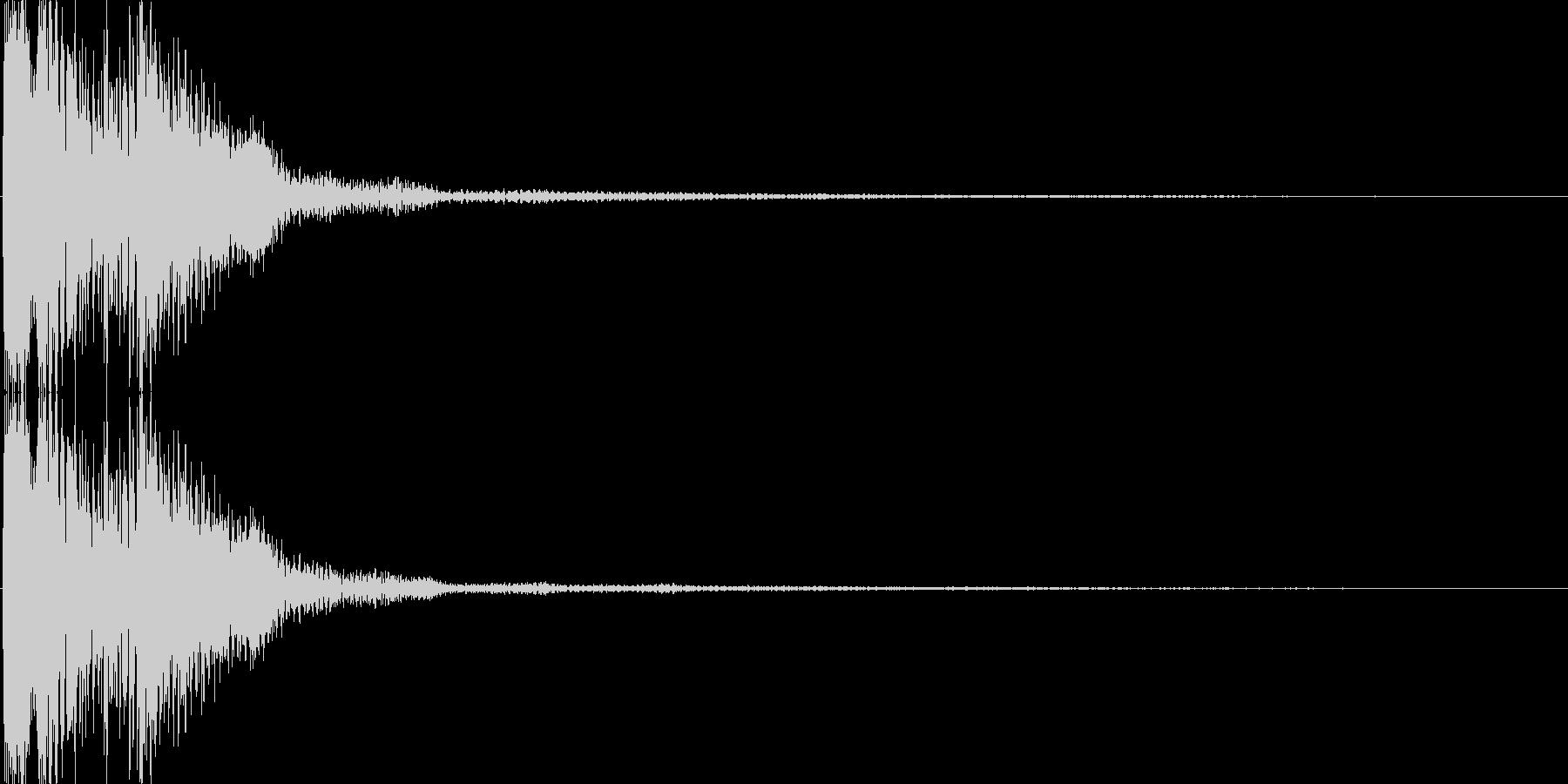 ピコ(ゲーム、アプリなどの操作音04)の未再生の波形