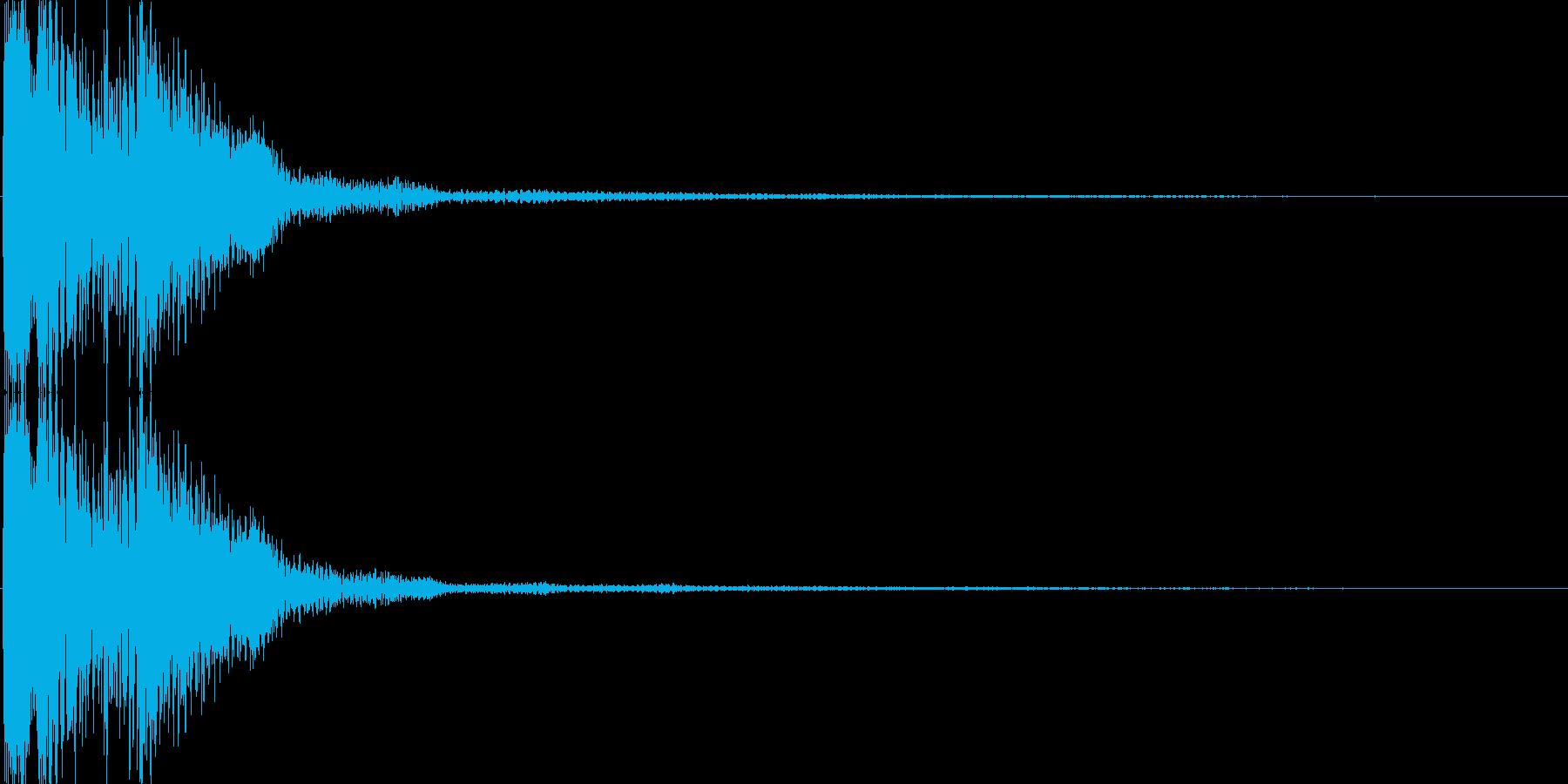 ピコ(ゲーム、アプリなどの操作音04)の再生済みの波形