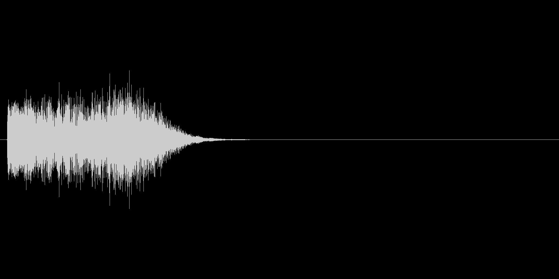 シンセ系の場面転換に使える効果音の未再生の波形