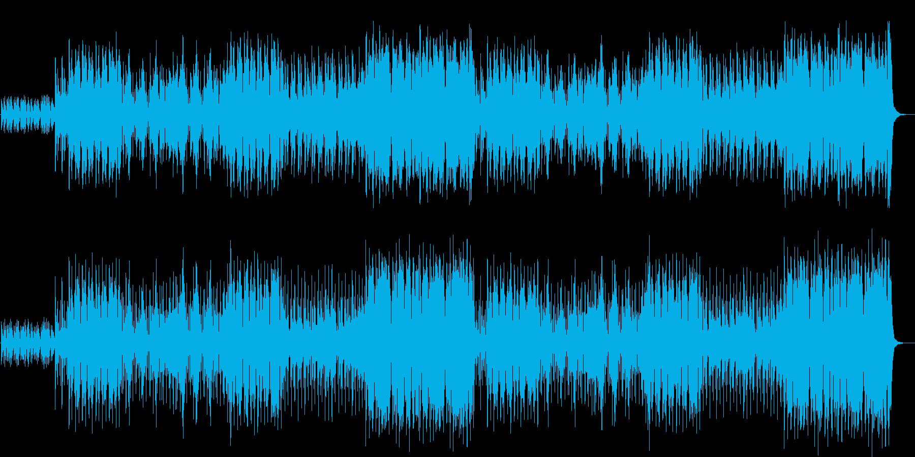 ワクワクする雰囲気のアイリッシュの再生済みの波形
