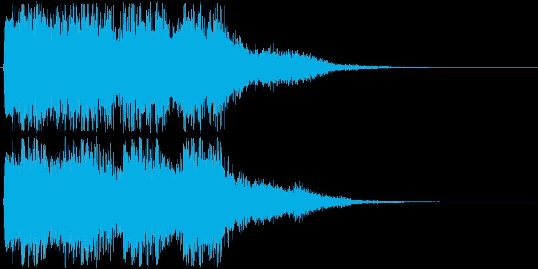 ピコピコ音での場面転換音 綺麗な切替音の再生済みの波形