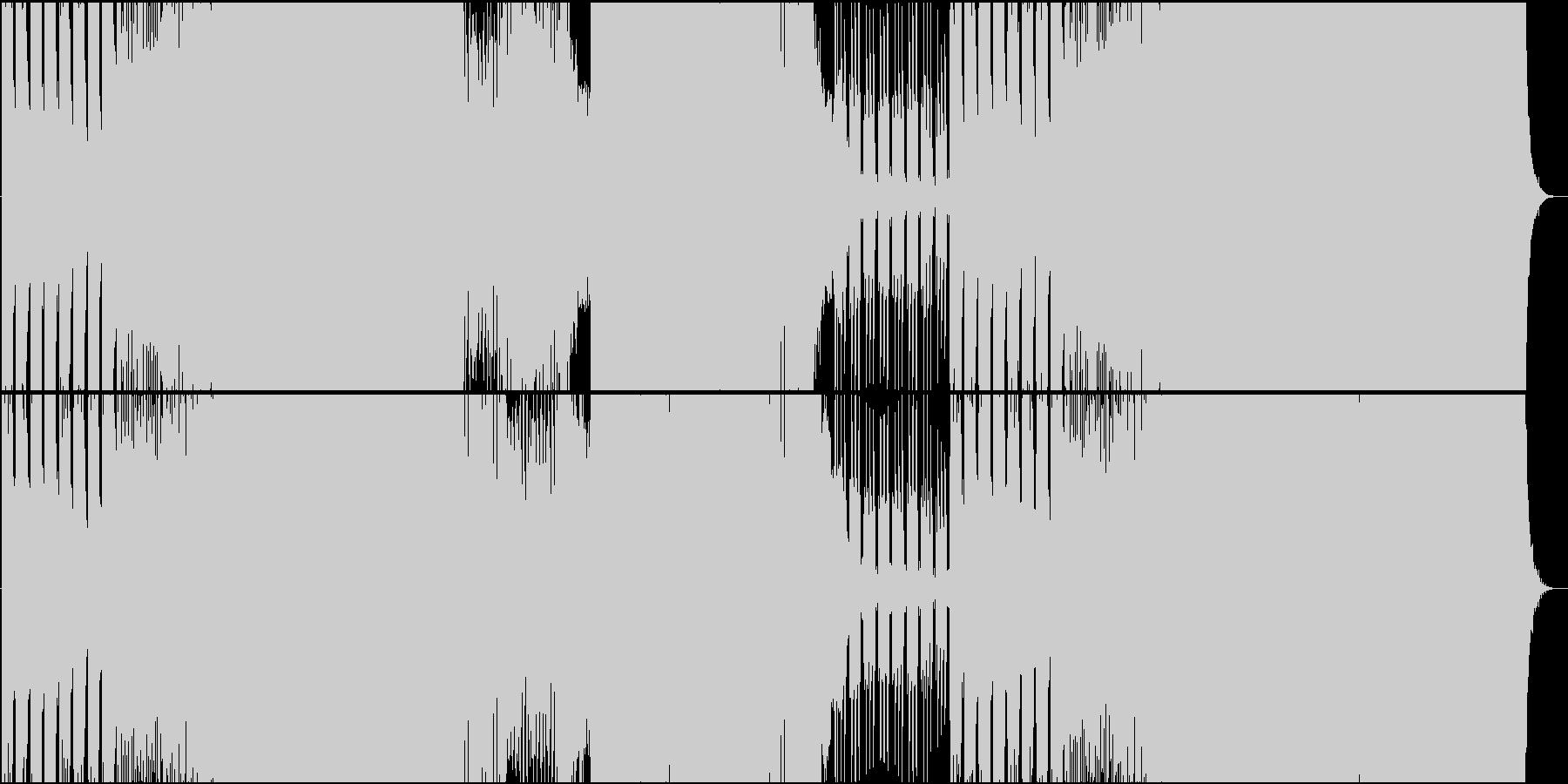 起伏が激しくメロディーが切ないEDMの未再生の波形