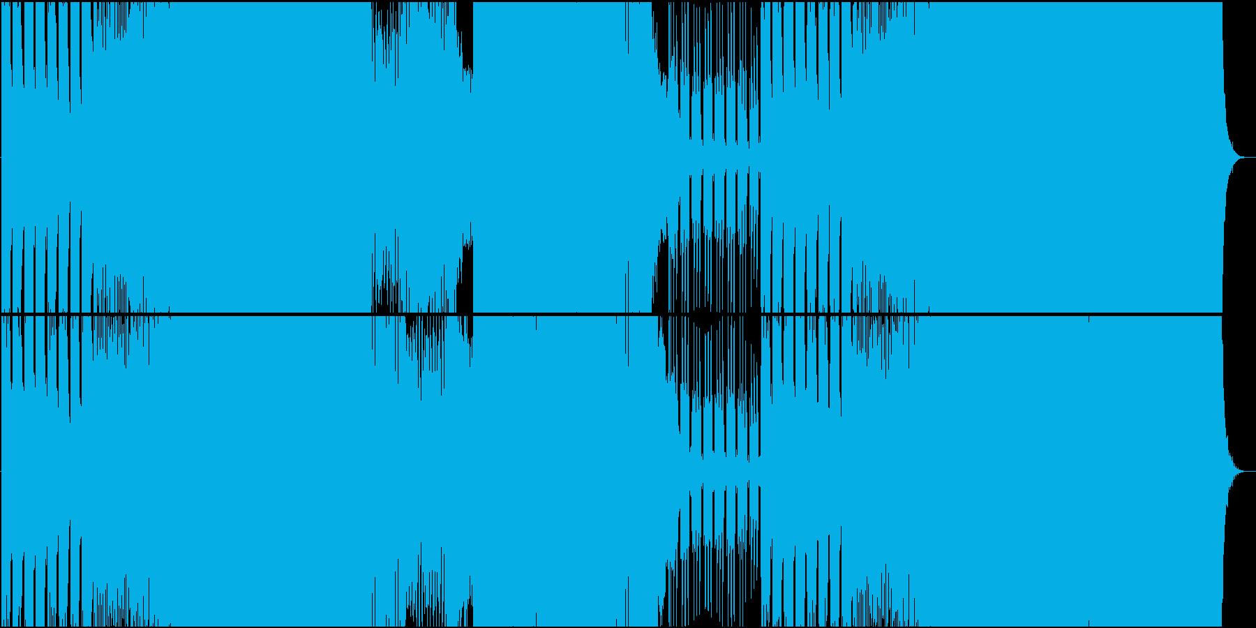 起伏が激しくメロディーが切ないEDMの再生済みの波形