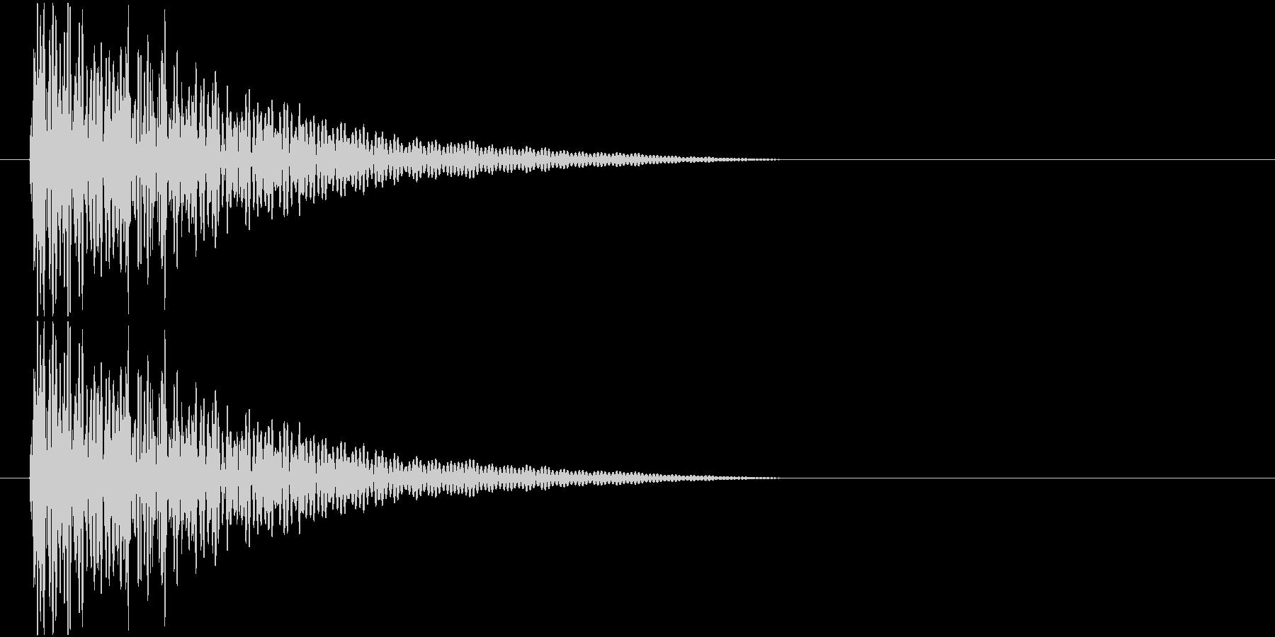 太鼓でのドンドン!という音です。の未再生の波形