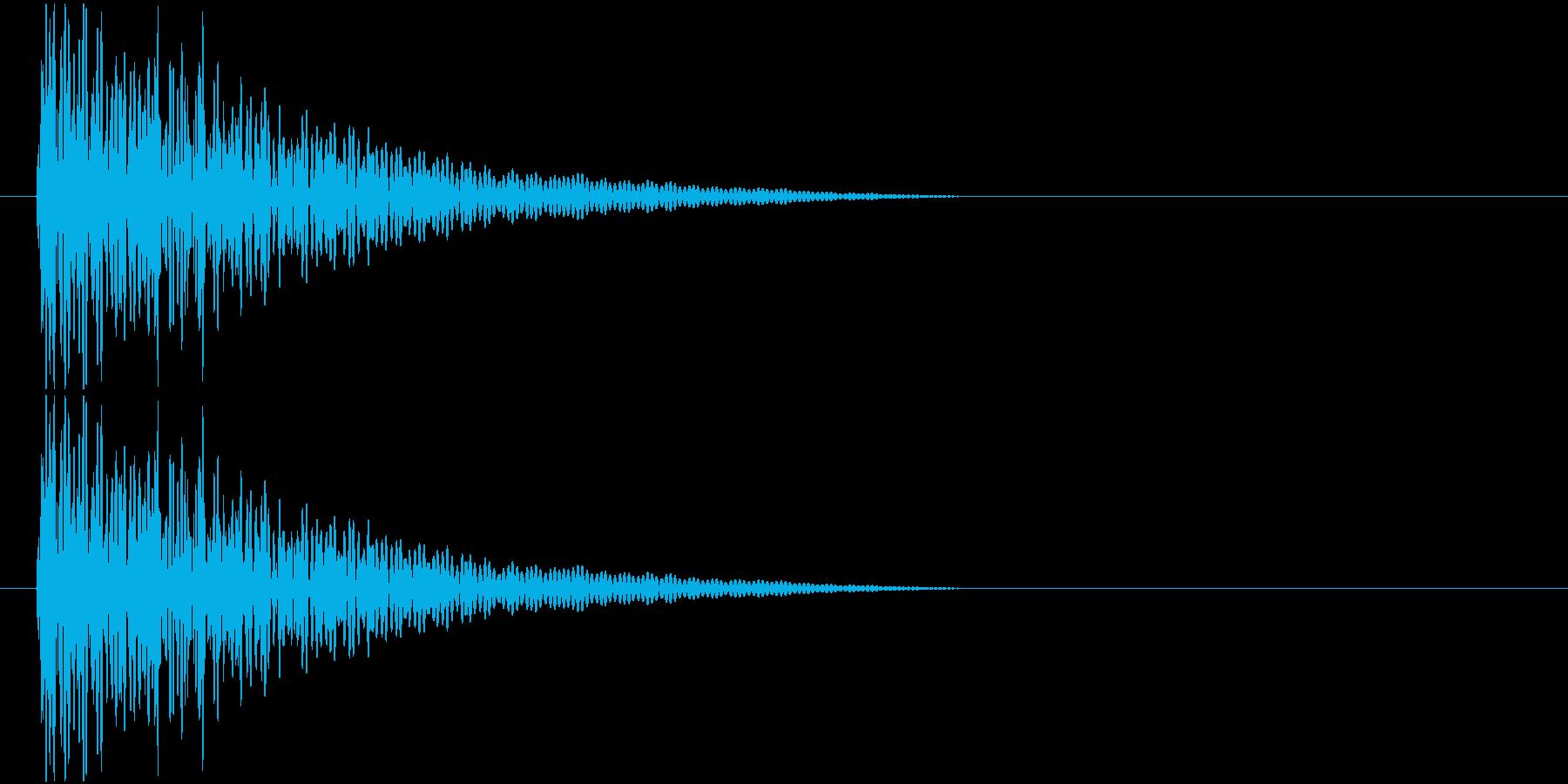 太鼓でのドンドン!という音です。の再生済みの波形